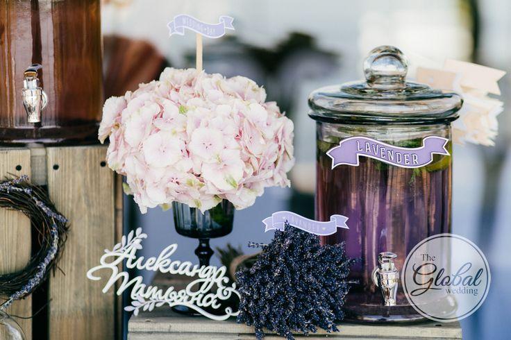 Лавандовая свадьба Декор и флористика Lavanda wedding Wedding decor Lemonade bar