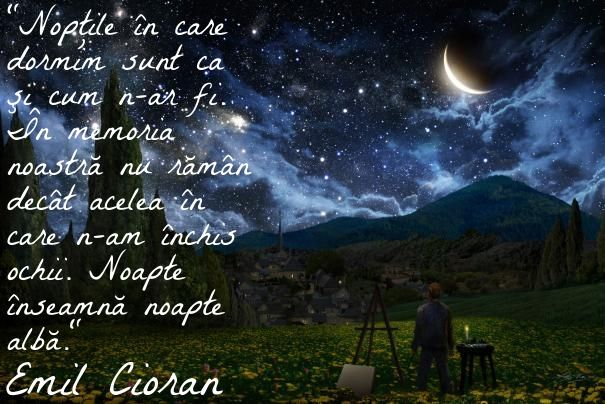 #citat #cioran #vangogh #starrynight #noapte #insomnie