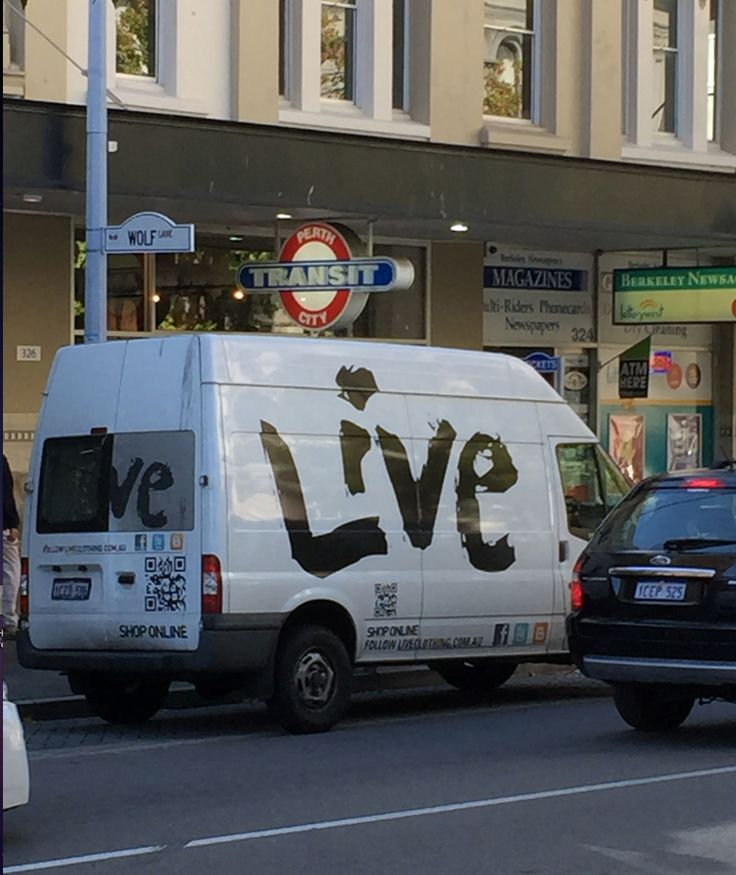 Chain Store Trucks and Vans , Top Knots and Sale Signs everywhere , Chain Store Apocalypse , Stay safe and shop at Murray Mews - The last frontier of independent Stores in Perth