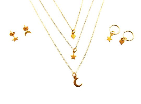 Mini Ster ketting goud   InTu jewelry design with meaning