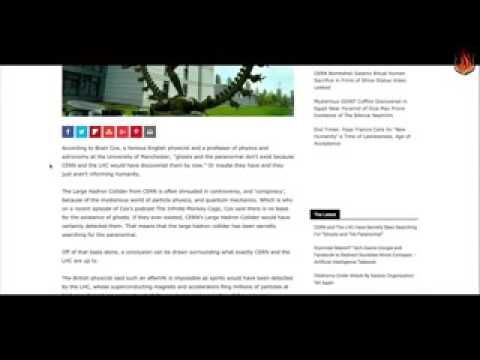 """WATCH NOW CERN and The LHC Have Secretly Been Searching For """"Ghosts and ..."""
