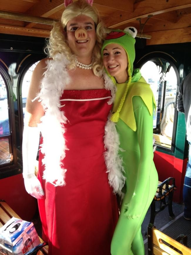 Funny Reverse Kermit And Miss Piggy Costumes  Me and john