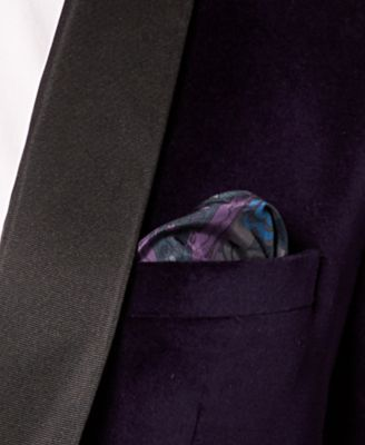 Tallia Men's Big & Tall Slim-Fit Purple Velvet Dinner Jacket - Purple 52XL