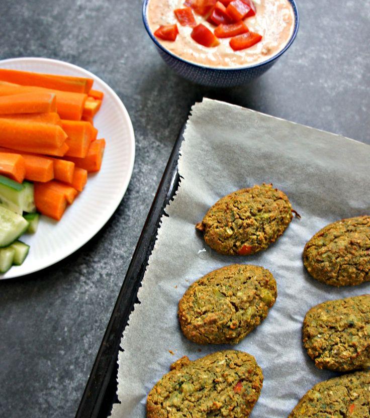 Grønne ovnbagte falafler med cashewcreme - Cathrineyoga - 5