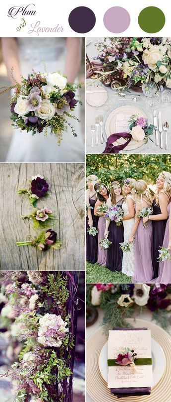 plum,pinky lavender and greenery spring and summer wedding colors