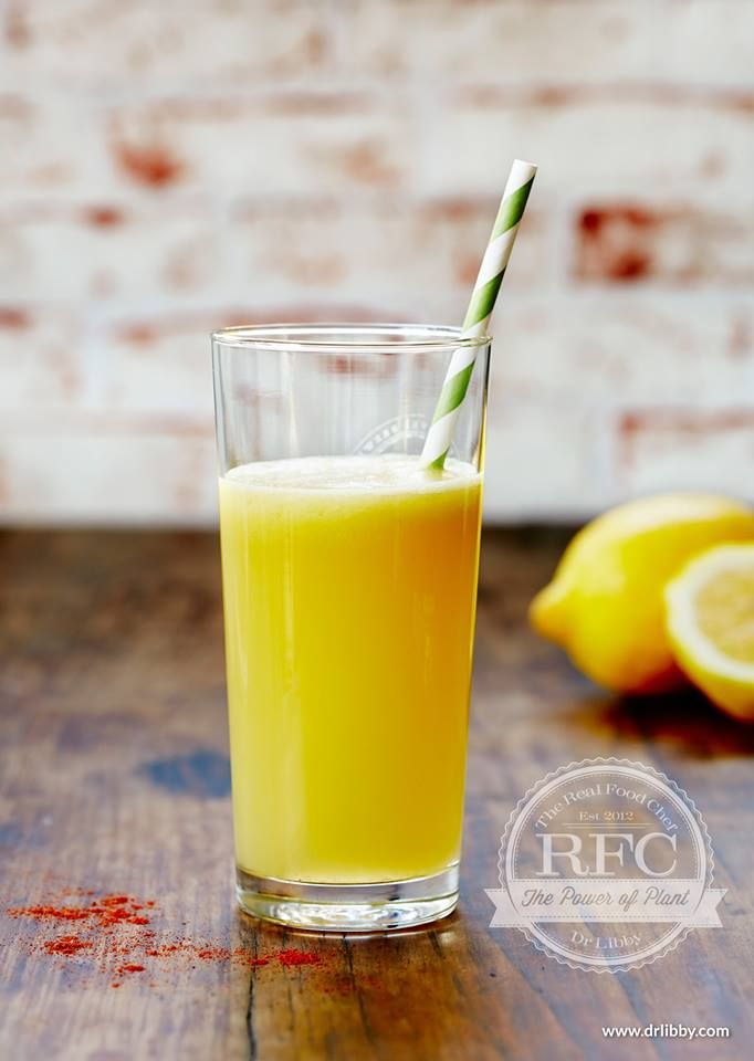 lemonade with a hint of chilli...the real food chef cookbooks have juices and smoothies in them.This is a recipe i created and was inspired by Dr Libby my partner in TRFC.. chefcynthialouise.com therealfoodchef.com chef cynthia louise FB