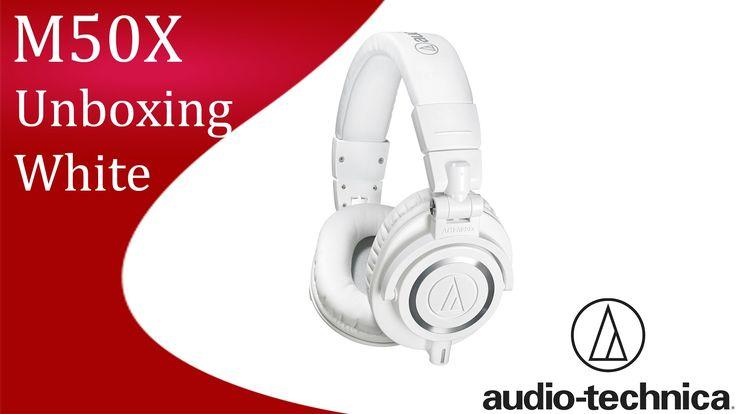 Audio Technica ATH M50X White Unboxing