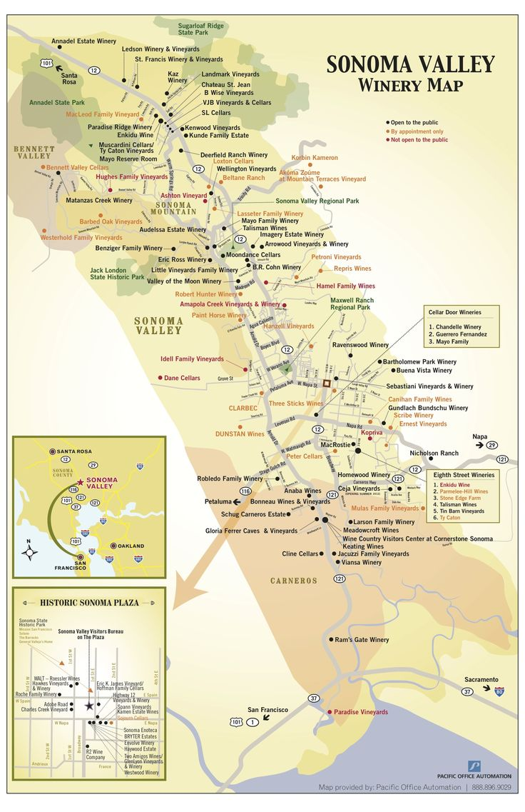 Sonoma Valley Wine Map Pictures To Pin On Pinterest