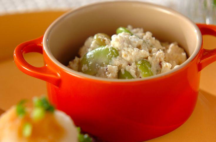 食感はマッシュポテトにそっくりなおからのポテサラ風。おからのアンチョビポテサラ風[洋食/前菜]2012.07.02公開のレシピです。