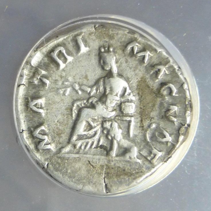 """Item specifics   Seller Notes: """"Up for sale is an AD 175-176 Roman Empire Faustina Jr., Augusta silver AR Denarius that is ANACS certified Extra Fine 40 with the hard to find seated person with dog reverse. It is amazing that after 1800 + years, you can still find ancient Roman coins..."""