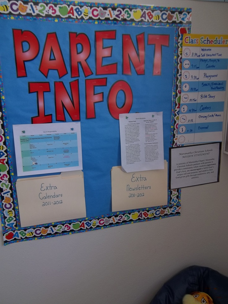 17 best ideas about Parent Information Board on Pinterest ...
