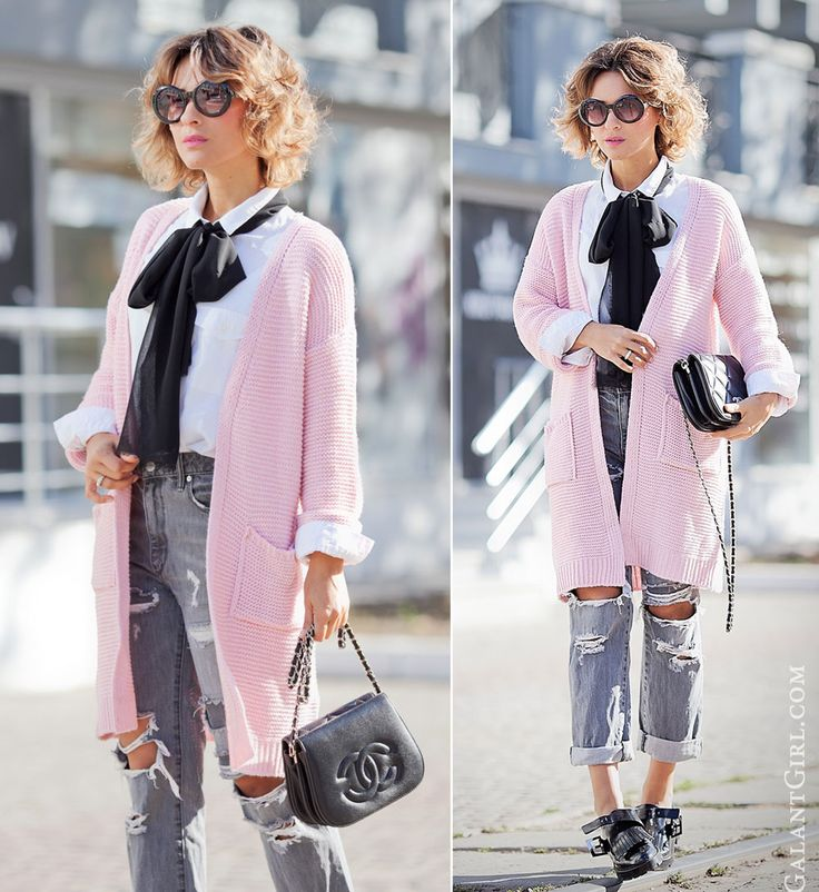 neck+bow+tie+outfit-with-vintage+chanel+bag