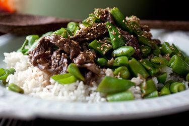 Stir-Fried Beef with Pea Pods - can't wait to stir fry the fresh organic pea pods from my CSA farmer!
