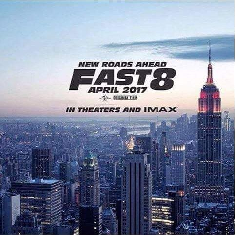 #fast 8 poster revealed by @vindiesel . Brock Lesnar is the Villian and Vin Diesel punches him back into Goonies while on top of a modified #SpaceX rocket jumps off and saves a puppy before landing on a hoverboard. #GAAM