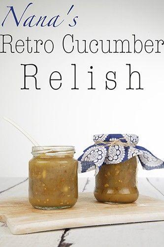 Retro Cucumber Relish