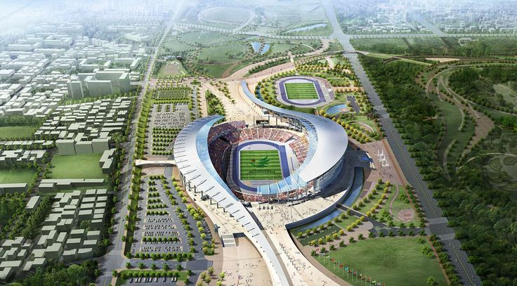 The 2014 Incheon Asian Games Main Stadium by Populous Completed