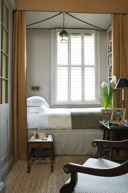 Love this tented bed nook beautiful bedrooms pinterest for Guest living room ideas