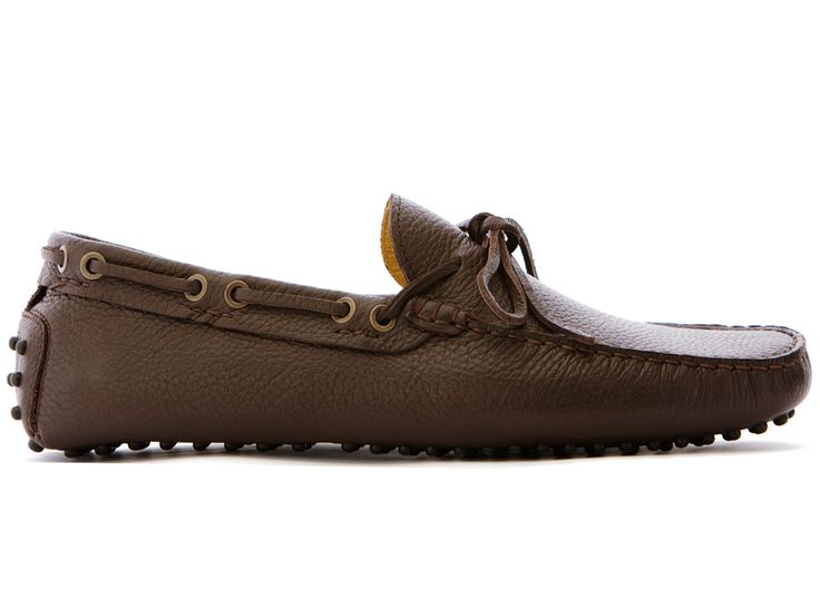 Chocolate Brown Driving Moccasins in Full Grain Leather - El Borghés - Velasca - Men's Fashion