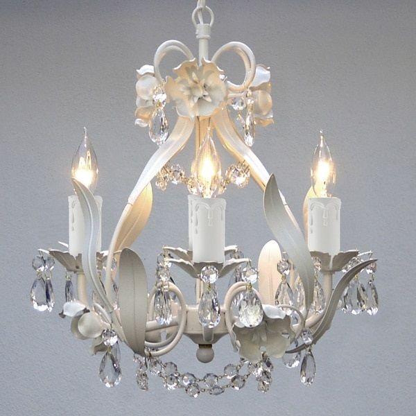 Chandelier Pendant Girls Room Baby Nursery White Vintage Victorian Style Light #Gallery #VintageVictorianAntique