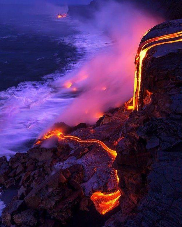Sebuah Kekuatan Alami Dari Lahar Api Fotografi Alam Pemandangan