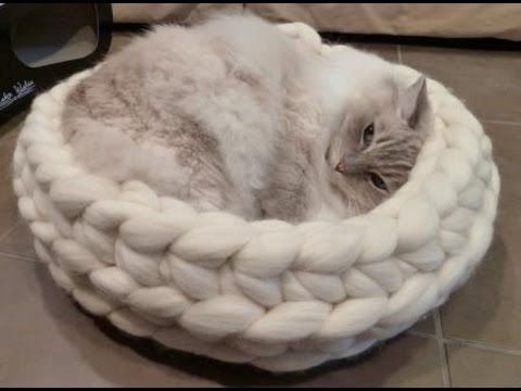 How to Arm Crochet a Dog bed with BeCozi - YouTube