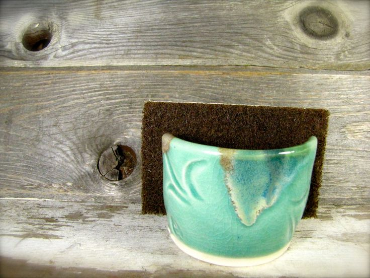 "Pottery ""Spongette"" - Kitchen sponge holder - Sink top sponge holder by Goblinpottery on Etsy https://www.etsy.com/listing/259183209/pottery-spongette-kitchen-sponge-holder"