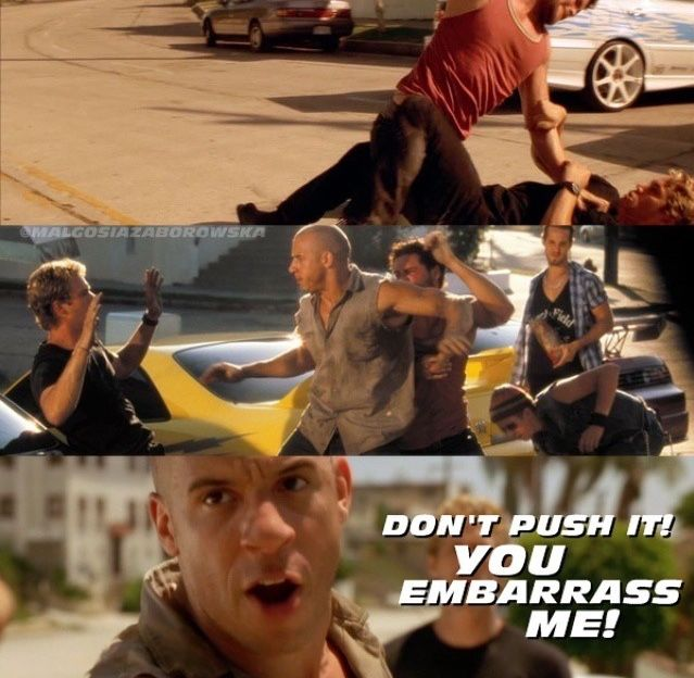 Dominic Toretto, Brian O'Conner, Vince, Jesse, & Leon (Vin Diesel, Paul Walker, Matt Schulze, Chad Lindberg, & Johnny Strong)