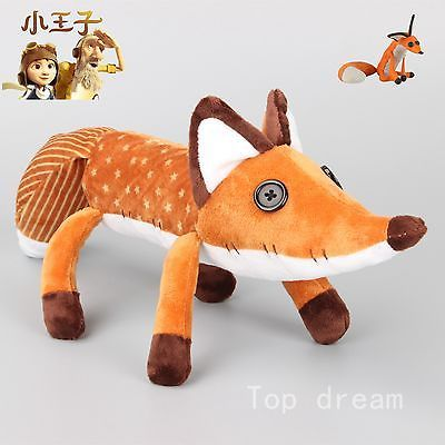 Lovely Film The little Prince Le Petit Prince Fox Plush Doll Puppet Toy 40CM NEW