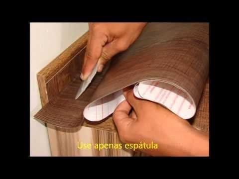 Carvalho Marrom, revestimento adesivo que imita madeira - YouTube