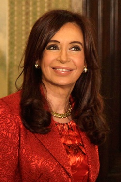 Most Powerful Latinas on the Forbes List  Cristina Fernandez de Kirchner  Age: 59  Position on The List: #16  The President of Argentina has been compared to Eva Peron for her powerful speeches and ability to move the public. During her term, Christina has fought for women's rights, and has increased Argentina's economy and lowered their national poverty rate.