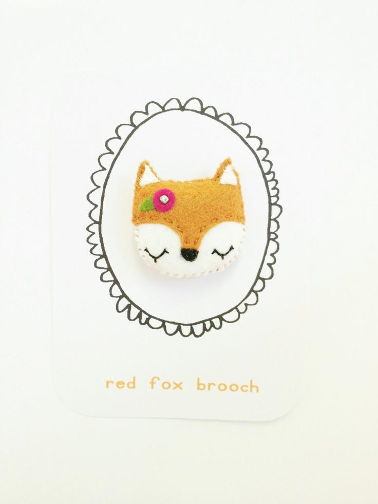 #DIY Felt Fox Brooch