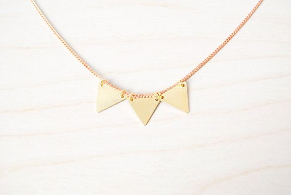 Golden Triangle Trio Bunting Necklace