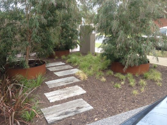 curved besser block garden stepped - Google Search