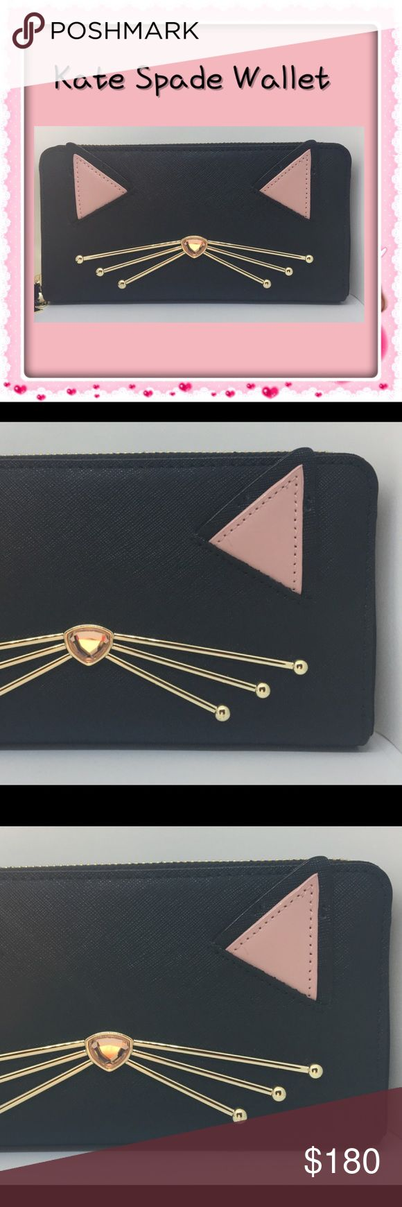 Kate Spade Jazz Things Up Wallet Beautiful NWT Kate Spade Jazz Things Up wallet. Gorgeous! $199 MSRP - 100% leather coated with polyurethane. Has pockets on both sides and zipper pouch in the middle. Comes from a smoke-free home. Please see my other items. Bundle & save! kate spade Bags Wallets