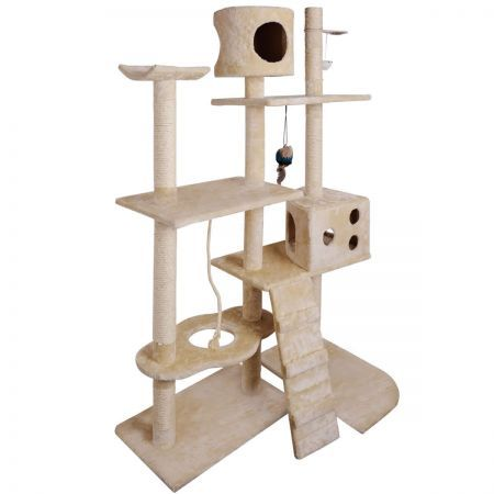 Cat Scratching Poles Post Furniture Tree 170cm Beige