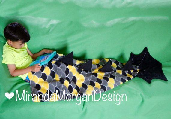 Dragon Tail Blanket / Wearable Dragon by MirandaMorganDesign