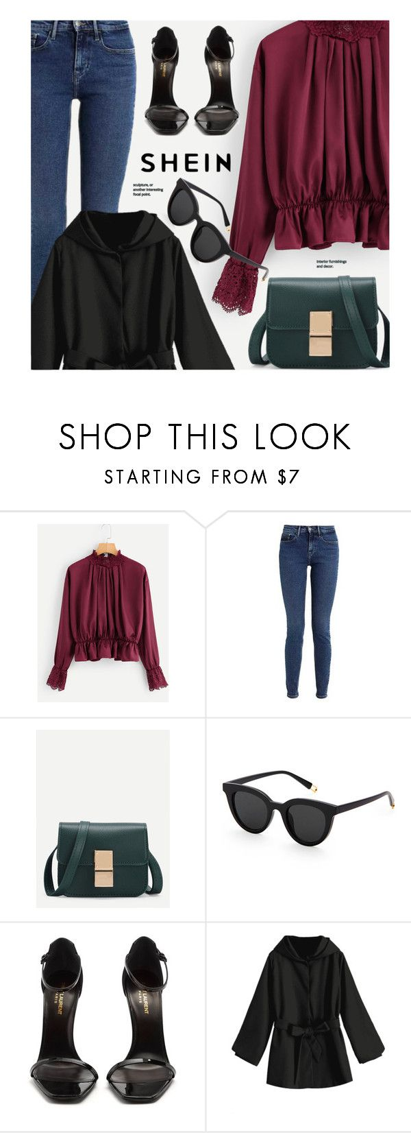 """""""9:42"""" by monmondefou ❤ liked on Polyvore featuring Calvin Klein and Yves Saint Laurent"""