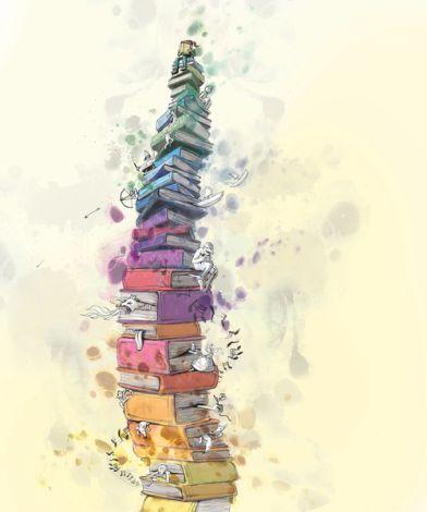 Barn og bøker (Children and books) by Lisa Aisato | Galleri Graff