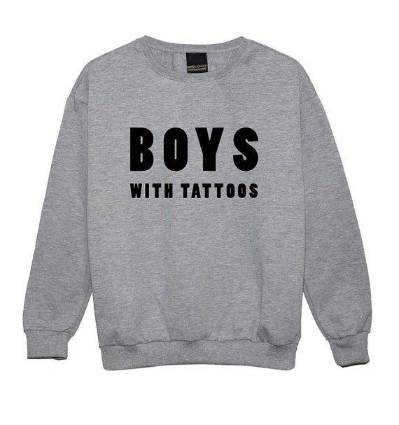 boys with tattoos SWEATER JUMPER funny fun tumblr by MLSHOPSS