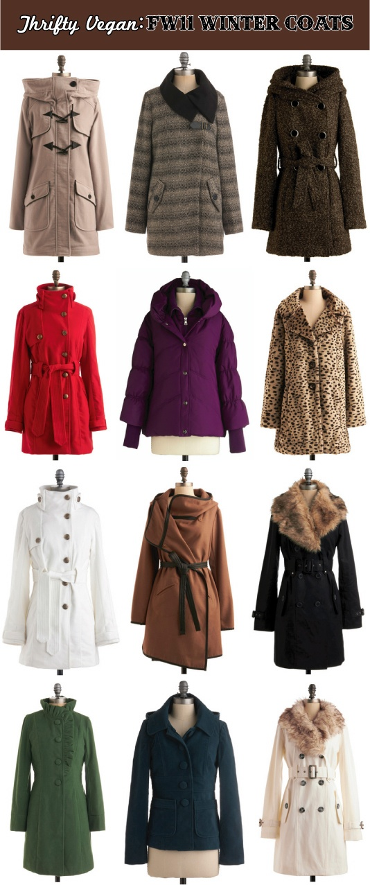 The Streets I Know: A Vegan Fashion Blog: Thrifty Vegan: FW11/12 Winter Coats