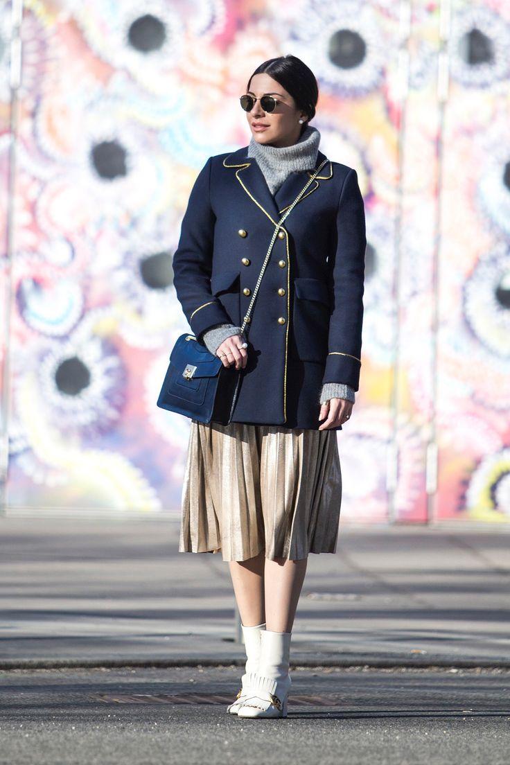 navy military coat - Stella Asteria