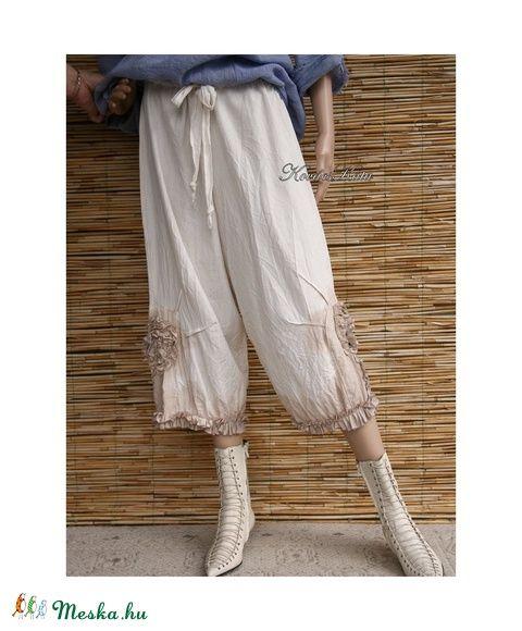 SZELLŐRÓZSA  lenvászon-nadrág  - Mori girl style    , Ruha, divat, cipő, Női…
