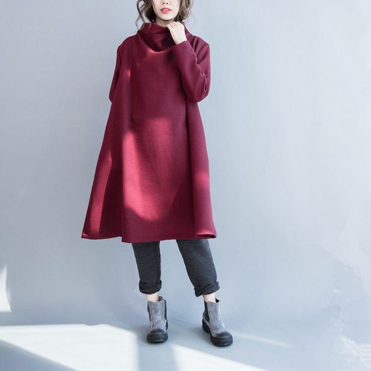 Women cotton loose long sleeve winter top -Buykud  - 2
