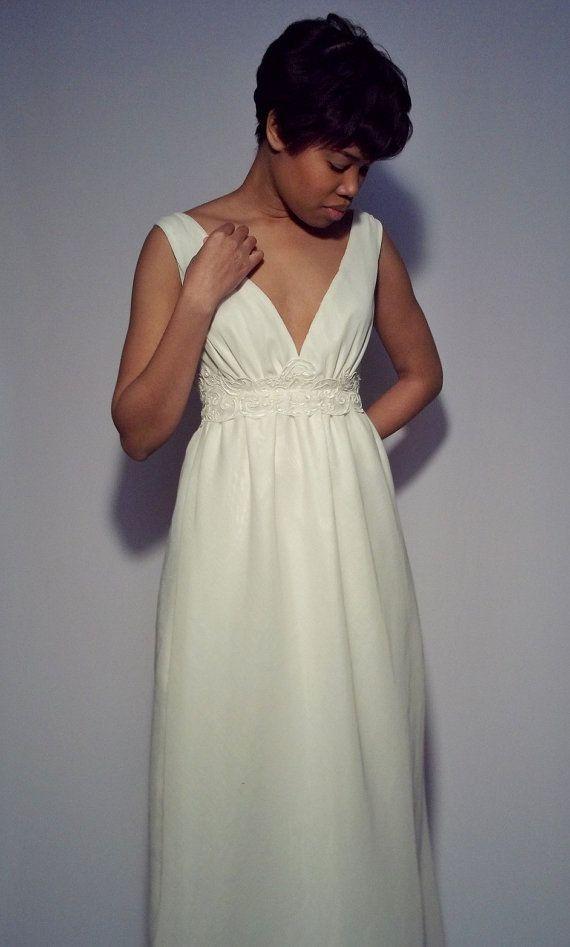 100 Linen Wedding Dress by DoreneFaulkner on Etsy, $299.00