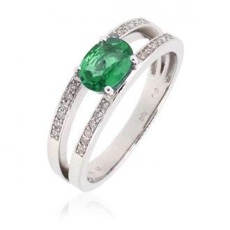 anillo esmeralda brillantes - Buscar con Google