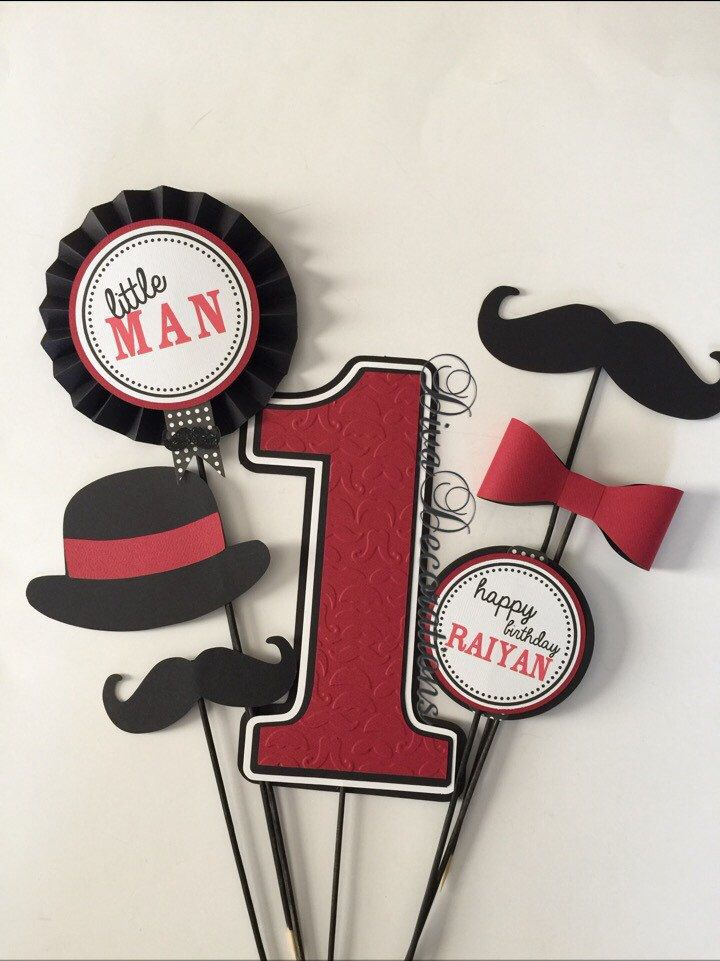 Little Man Mustache Birthday Party Centerpiece CUTOUTS ONLY   by DivaDecorations on Etsy https://www.etsy.com/listing/205198506/little-man-mustache-birthday-party