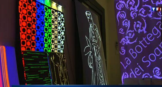 Tissu lumineux pour la décoration, communication, publicité, marketing, sécurité...