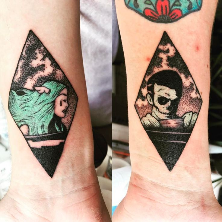 OMGGG! This is the best tattoo I've ever seen!! I want it! I think I'm going to tattoo one and when I find the correct person he's going to have the other one.