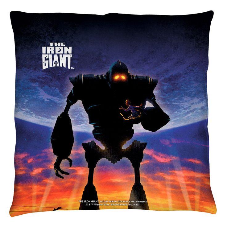 Iron Giant Poster Throw Pillow