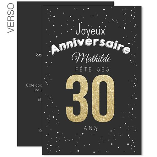 1000 ideas about invitation anniversaire 30 ans on pinterest invitation 30 ans carte. Black Bedroom Furniture Sets. Home Design Ideas